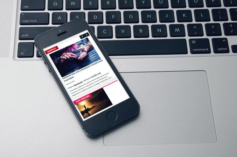 strony internetowe smartfon portal senior