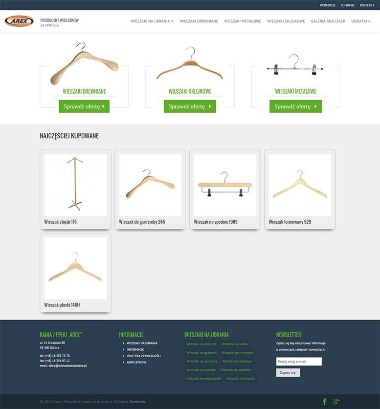 Sklep internetowy Arex Wieszaki Drewniane