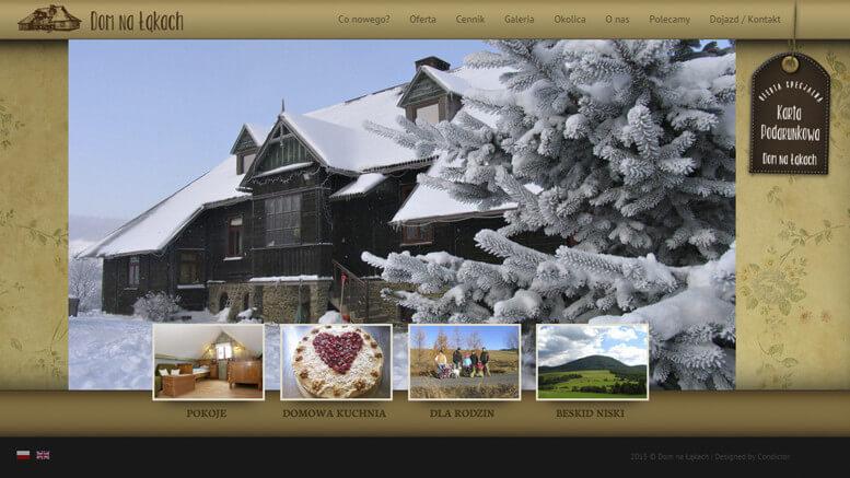 strona www dom na lakach