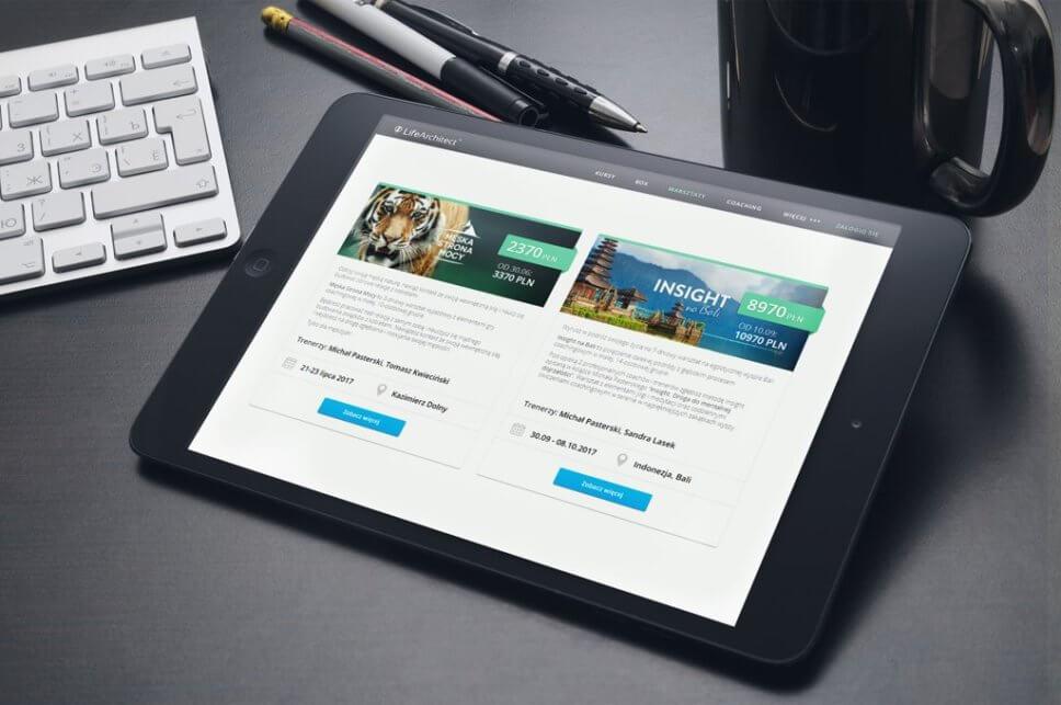 Serwis www na tablet
