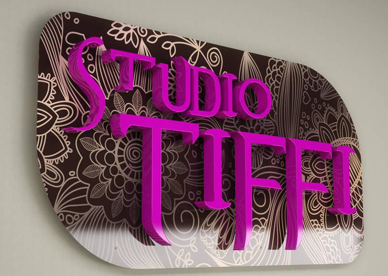 Projekt reklamy i wizytówek Studio Tiffi 1