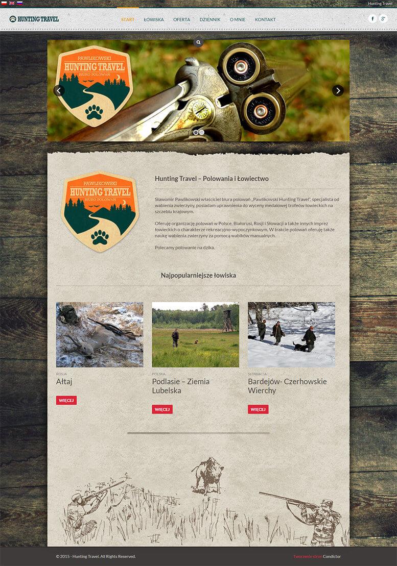 projekt serwisu lowieckiego hunting travel krakow