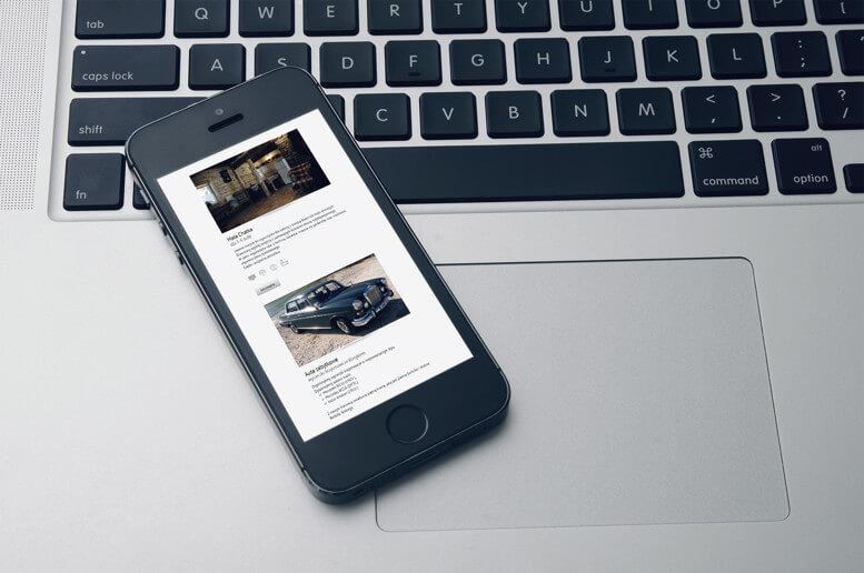 witryna sokolskie chaty smartfon