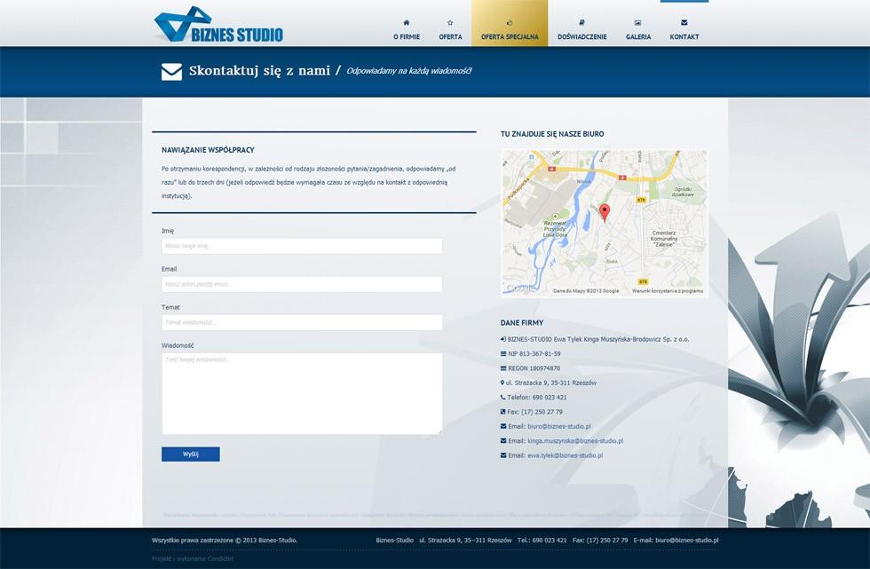 Strona internetowa Biznes Studio 2