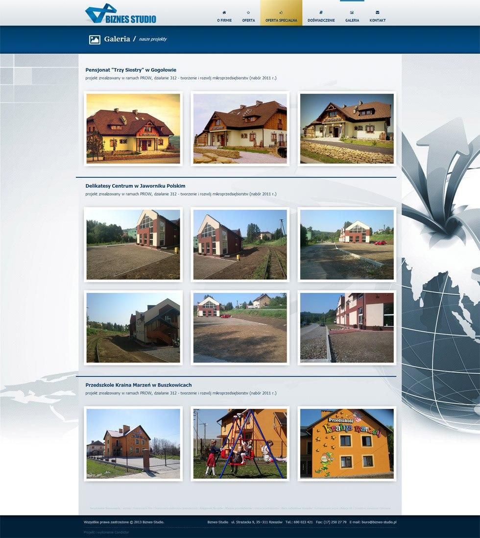 Strona internetowa Biznes Studio