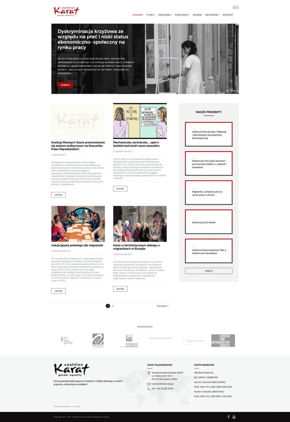 Strona internetowa KARAT