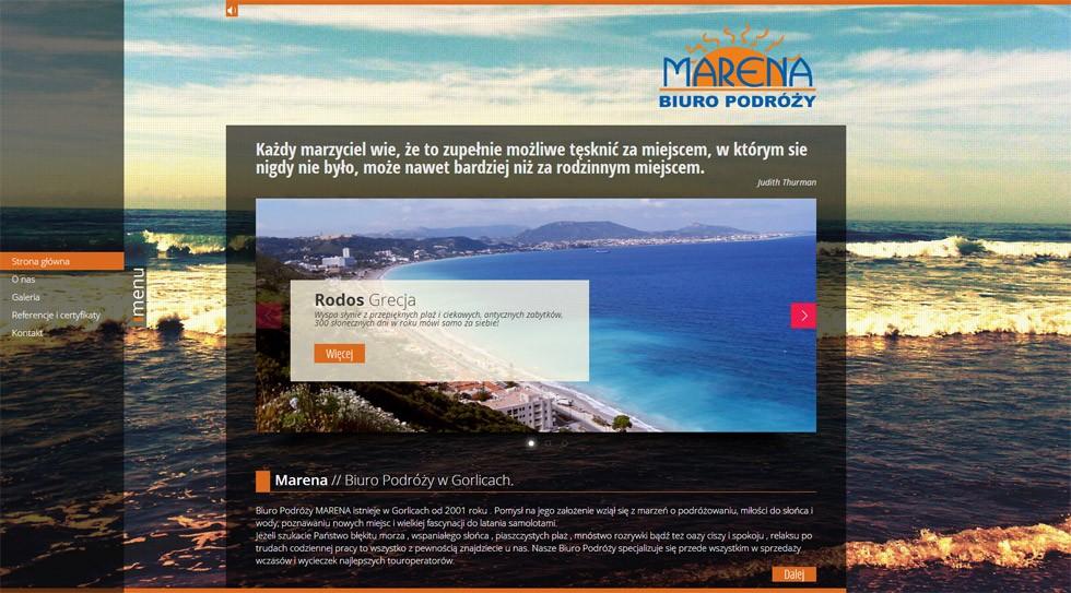 Strona internetowa Marena 1