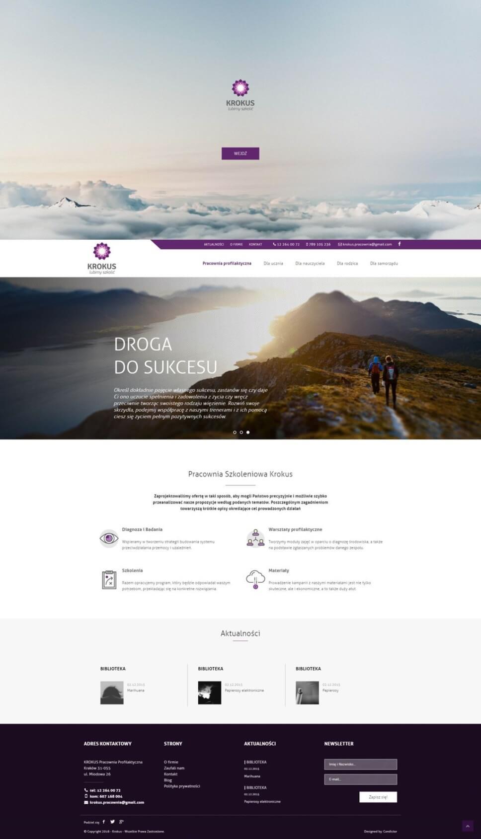 Strona edukacyjna Warsztaty Krokus