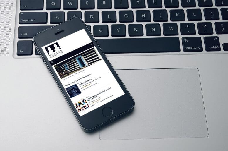 strona muzeum malopolska smartfon