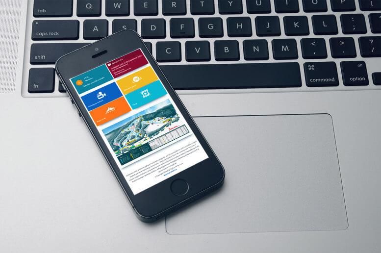 strona stacja narciarska smartfon
