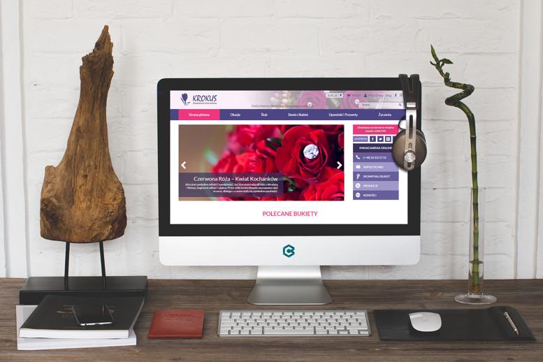 Strony internetowe monitor Krokus