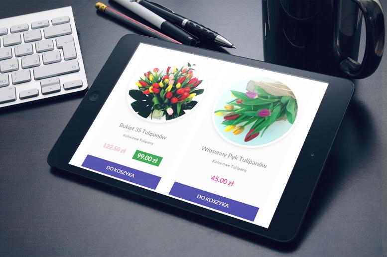 Strony internetowe tablet kwiaciarnia gorlice