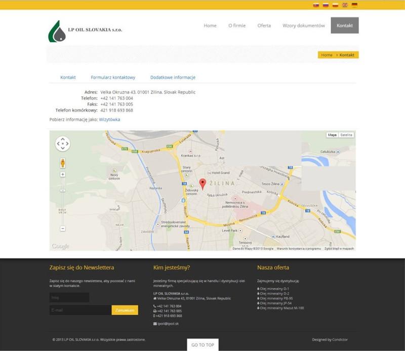 Witryna internetowa LPOIL 2